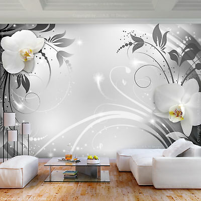 Vlies Fototapete D Effekt Blumen Tapete Schlafzimmer Wandbilder Xxl  Farbe