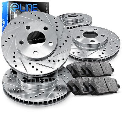 For 2011-2016 BMW 528i,528i xDrive Full Kit Silver Drill/Slot Brake Rotors+Pads
