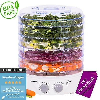 Dörrgerät BPA FREI Timer Temperaturregler Dörrautomat Obsttrockner Dörrapparat