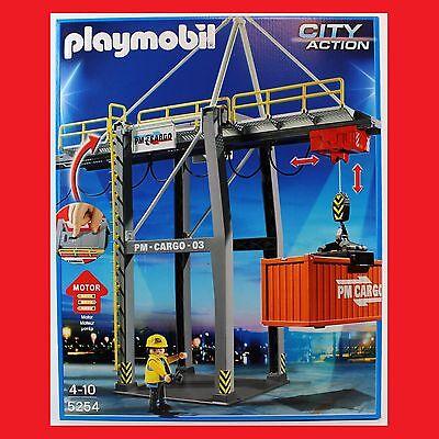 Playmobil 5254 Elektrisches Verladeterminal Container Kran Hafen City Cargo Neu