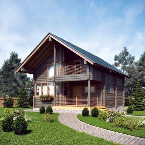 LOG HOUSE KIT #LH-105 ECO FRIENDLY WOOD PREFAB DIY BUILDING CABIN HOME MODULAR