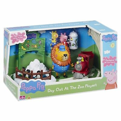 Zoo Pig - Peppa Pig Toy Day Out At The Zoo Playset Includes Track Train Animal Figure NEW