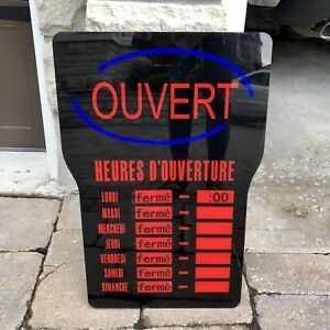 LED French) Business Sign $30