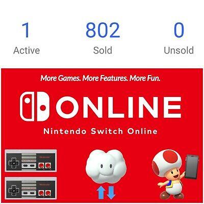 ⚡Nintendo Switch Online Membership 12 months (Expiry Date: 28 Dec 2021)
