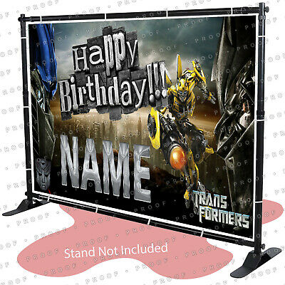 Transformers Birthday Banner (Transformers Birthday Banner Personalized Party Backdrop Decorations)