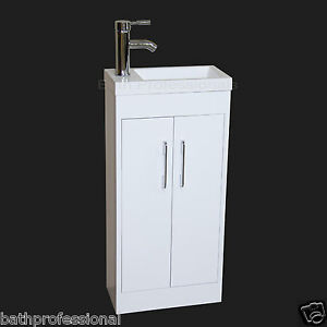 Small Corner Sink Unit : Vanity-Unit-Cabinet-Bathroom-Basin-Sink-Cloakroom-Corner-Small-400MM ...