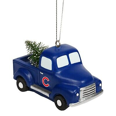 Chicago Cubs Truck with Tree Christmas Tree Holiday Ornament