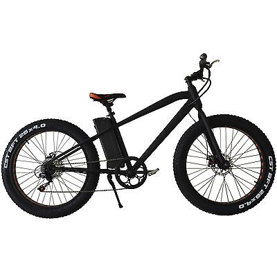 """26"""" 300W Fat Tire Electric Bicycle 6-Speed Beach Snow 36V10AH Lithium battery"""
