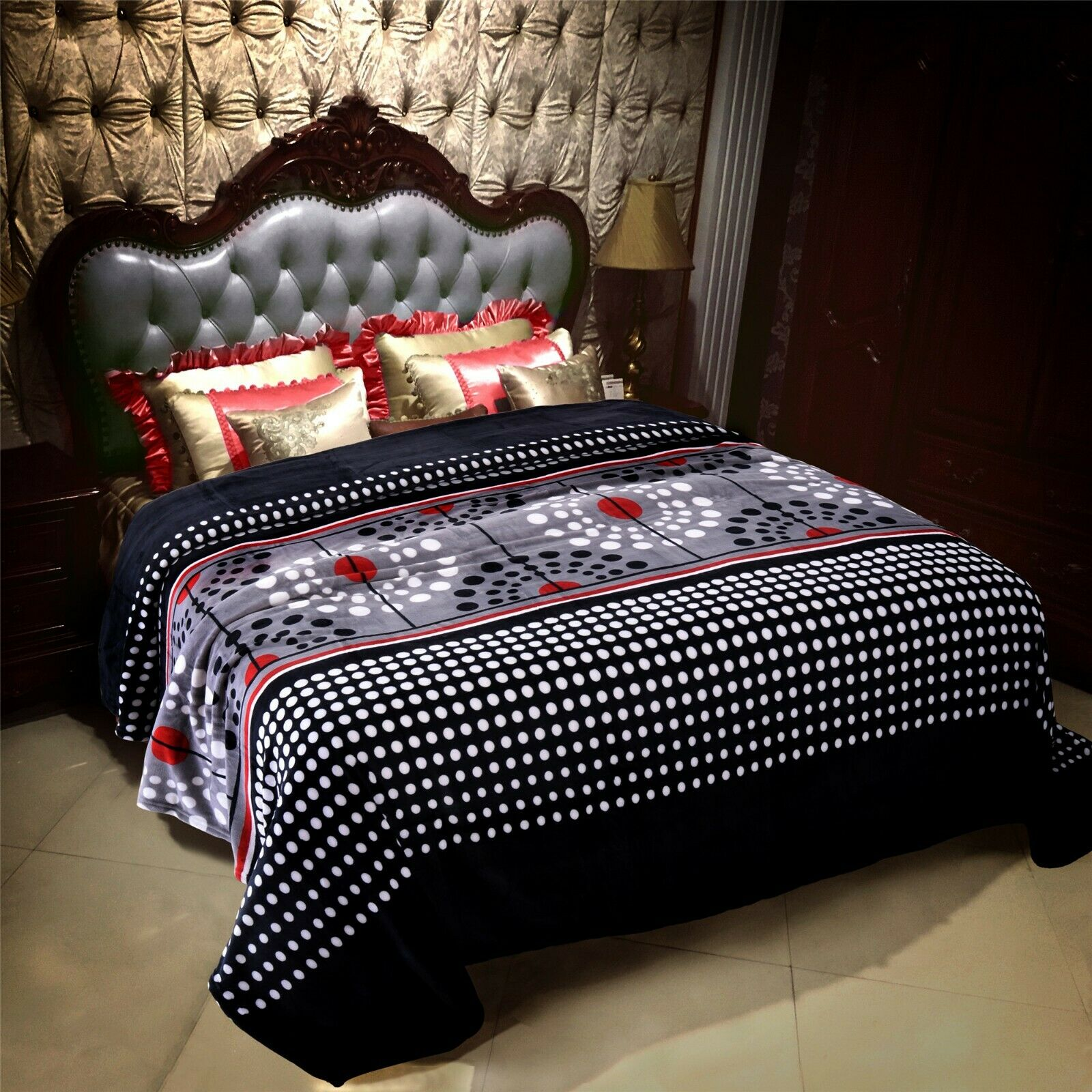 New light weight Throw soft Flannel Blanket Cal King Size Mi