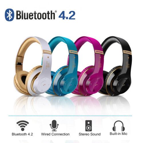 Wireless Bluetooth Headphones Over the Ear Super Bass Earpho