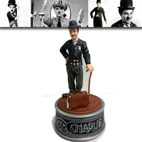 """Vintage 1989 Charlie Chaplin Rotating Music Box plays """"The Entertainer"""""""