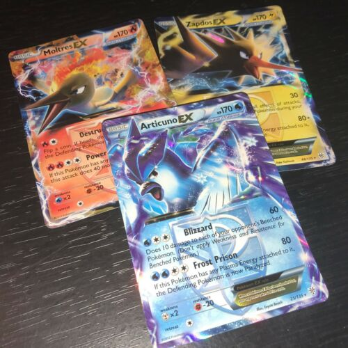 NM//M Articuno Moltres Zapdos HOLO RARE LEGENDARY BIRD Lot x3 Next Destinies