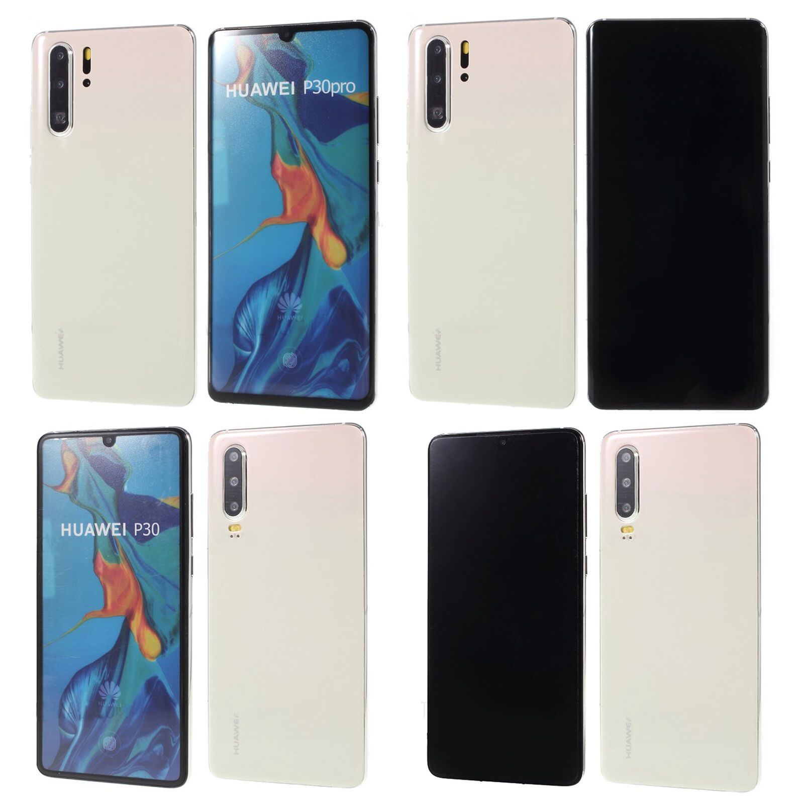 1:1 Non working Replica Fake Phone Dummy Display Model For Huawei P30 Pro white