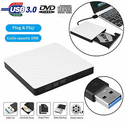 External USB 3.0 DVD RW CD ROM Writer Drive Burner Reader Pl