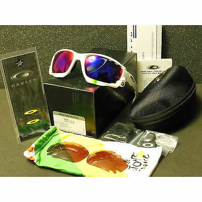 c6c391bd51a Oakley Racing Jacket Sunglasses Tour de France Pl White +Red Iridium VR28  Black