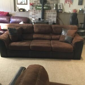 Beautiful Clean Chesterfield and comfy Chair:    $550.00