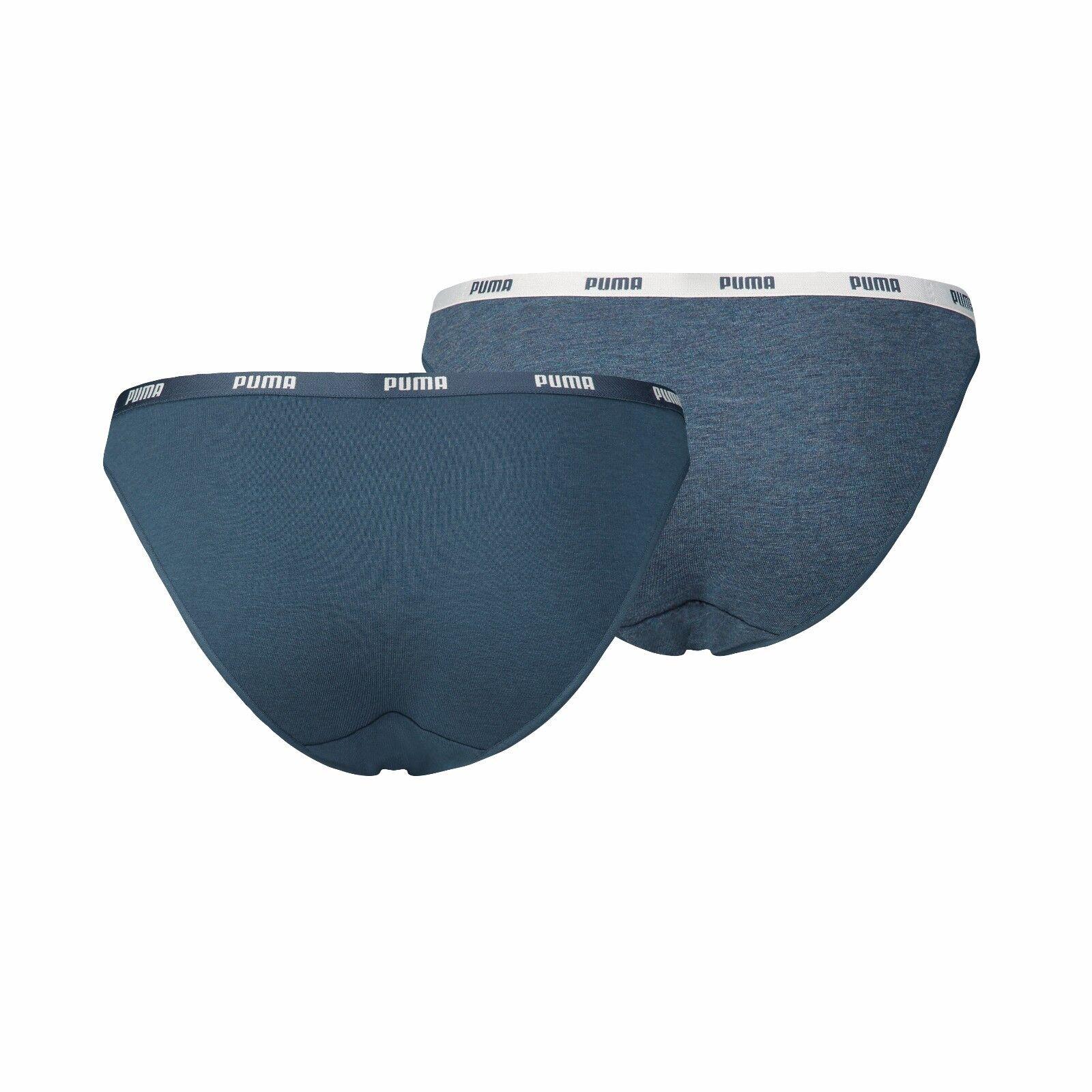 Puma Women ICONIC BIKINI Slip Mini Minislip 2er Pack Baumwolle Modal stretch NEU