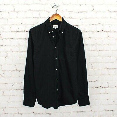 GANT Rugger Men's Button Down Shirt Black Oxford cotton Size Medium
