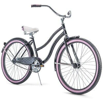 Womens Bicycle Beach Cruiser 26 Inch Ride Bike Road Comfort Blue White Brand New