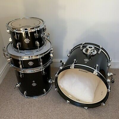 Ludwig Breakbeats Black Gold Sparkle Drum Kit Shell Pack - Mint condition