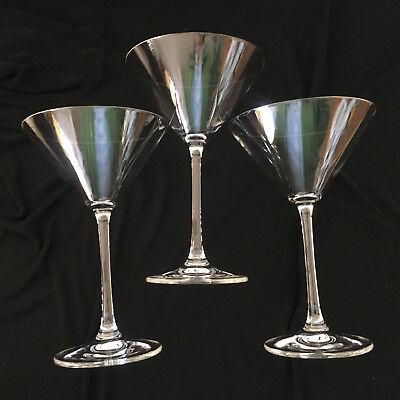 3 Riedel Vinum Oversize XL Martini Glasses - 7 3/8