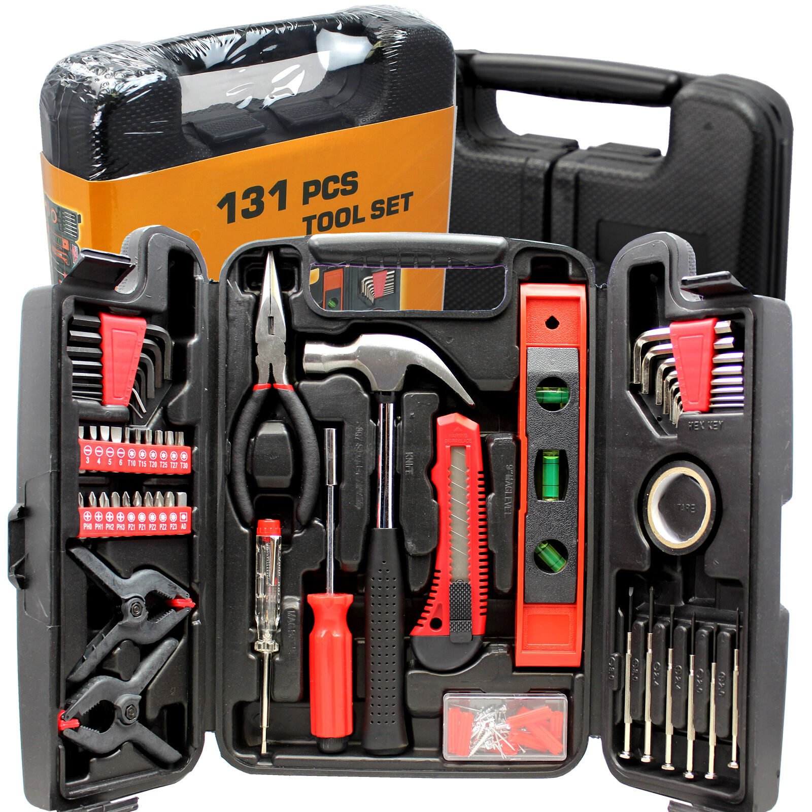 Home/Garage/Mechanic 131-Piece Tool Set in Carrying Case BRA