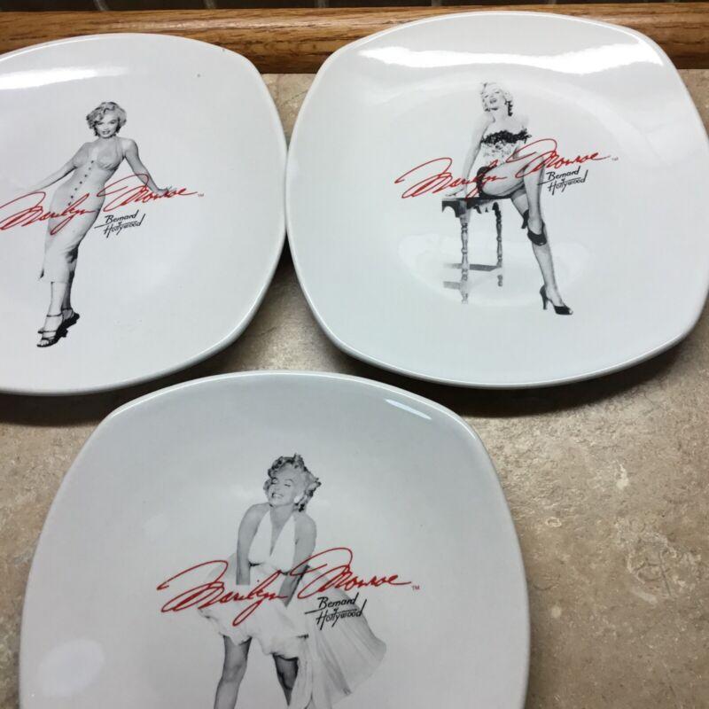 "Set of 3 Marilyn Monroe Collectors Plates Bernard Of Hollywood 6 3/4"""