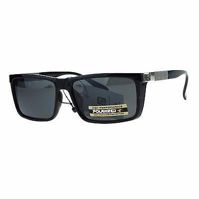 Mens Polarized Lens Sunglasses Stylish Fashion Rectangular Frame UV (Stylish Sunglasses)