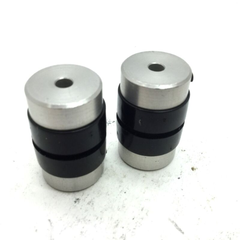 """Lot of 2 Electrically Isolated Motor Coupling ID: 0.125"""" Length 0.94"""" OD 0.56"""""""