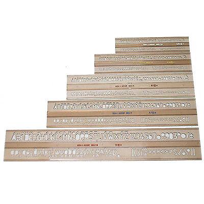 5 Schriftschablonen ISO im Set Schrift Schablone 2,5 3,5 5 7 10 mm Schablonen
