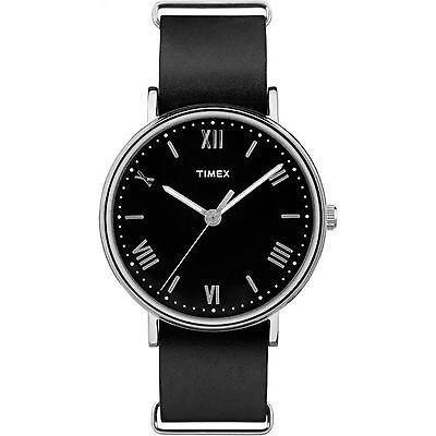 Timex TW2R28600, Men's Southview, Black Leather Watch