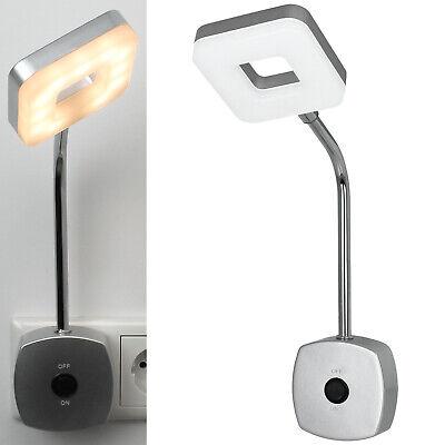 Monzana LED Steckerlampe 75cm Steckdosenlampe Steckerleuchte 5000K Touchschalter dimmbar Schreibtischlampe Wandlicht