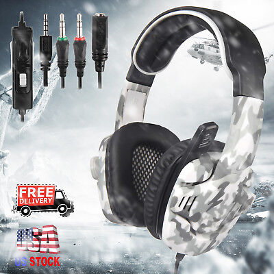 For PS4 Xbox One Nintendo Switch PC Gaming Headset Headphone w/Mic SADES 708GT