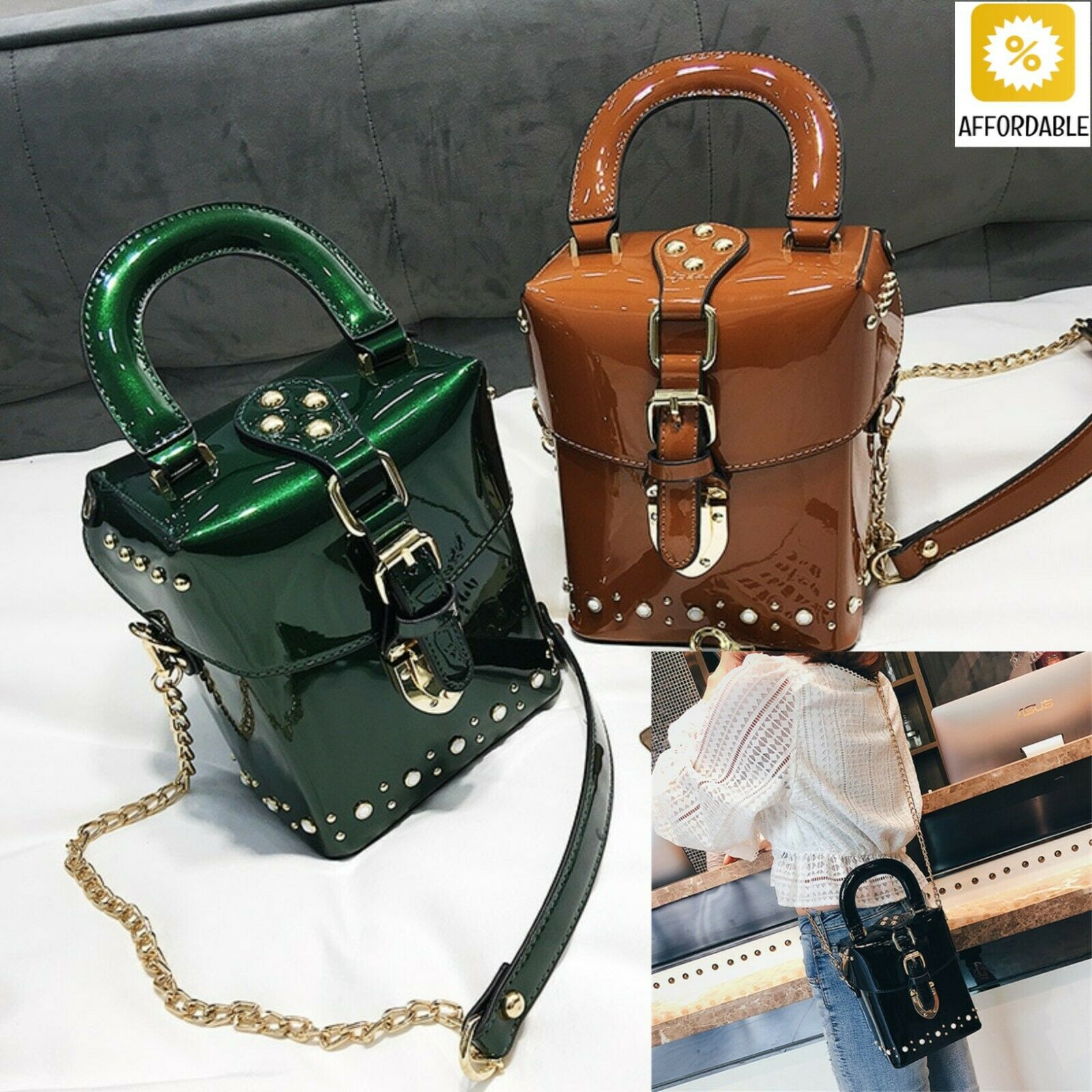 Handbags Crossbody MIni Box Bag Messenger Cube Bags Design F