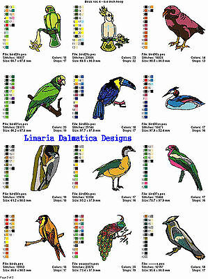 BEAUTIFUL BIRDS V. 6(4x4) LD MACHINE EMBROIDERY DESIGNS