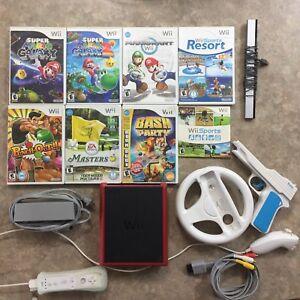 Nintendo Wii Mini + Games + Wiimote/Nunchuck + Accessories