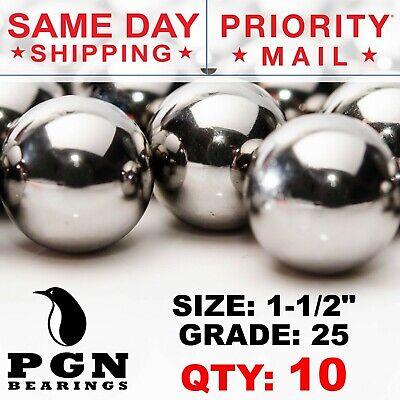 10 Qty 1-12 Inch G25 Precision Chrome Steel Bearing Balls Chromium Aisi 52100