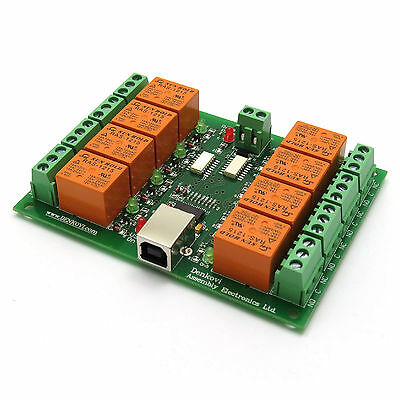 Usb Eight 8 Channel Relay Output Module Board For Home Automation - 12v