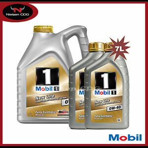 Mobil 1 0w 40 new life fully synthetic car engine motor for Life of synthetic motor oil