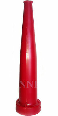 1-12 Nst X 10 Straight Stream Fire Hose Nozzle Red Polycarbonate