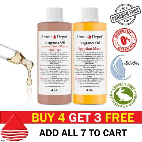 4 oz Fragrance Oils for Candle Soap Bath Bomb Incense Making Scented Oils Bulk