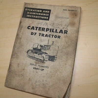 Caterpillar D7 Tractor Dozer Crawler Operation Maintenance Manual Owner Operator