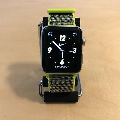 *Apple Watch Nike+ Series 2 42mm Silver Aluminum GPS - Lime Green Nylon Loop*