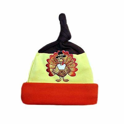 Happy Thanksgiving Turkey Baby Hat - Preemie, Newborn & Toddlers up to 24 Months](Baby Turkey Hat)