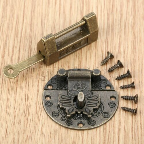 Chinese Blessing Lock Latch Butterfly Buckle Clasp For Cabinet Jewelry Box