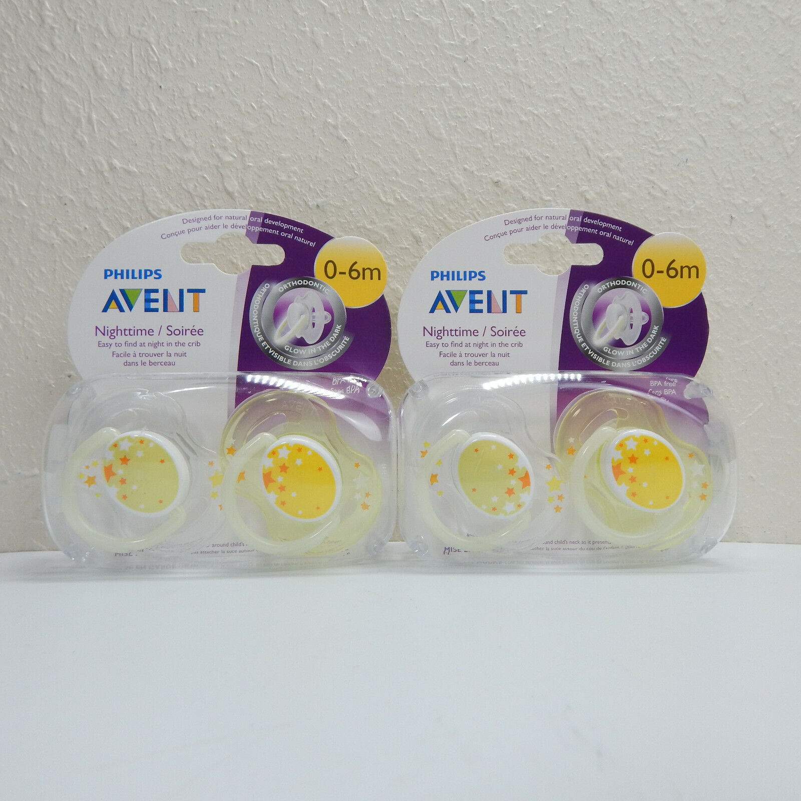 Philips AVENT BPA Free Nighttime Infant Pacifier, 0-6 Months