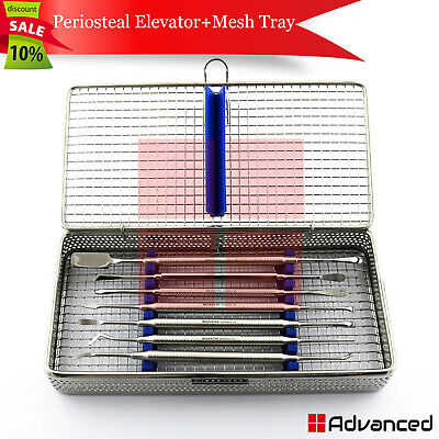 Dental Periosteal Elevators Implant Tooth Extracting Lifting Tools Mesh Cassette