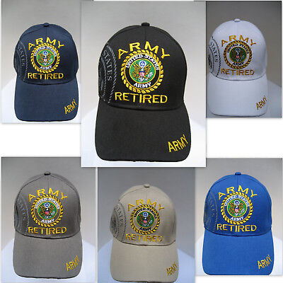U S ARMY RETIRED VETERAN Cap/Hat Military w/ Shadow *FREE Shipping*