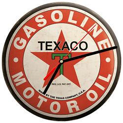 8 WALL CLOCK  Vintage Looking Sign Garage #14 Texaco Gas Motor Oil Gasoline Car