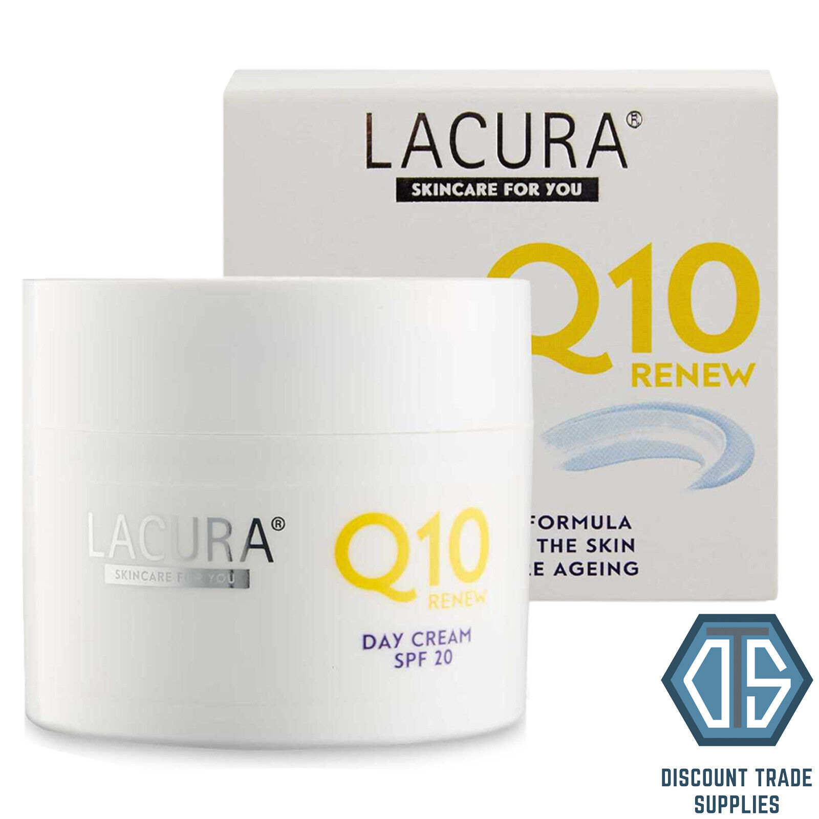 Aldi Lacura Q10 Anti-Wrinkle Day Cream with Hyaluronic Acid 50ml Anti Ageing SPF